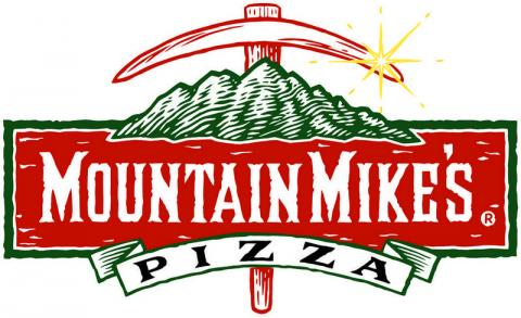 Logo for mountain Mikes Pizza which is setting up shop in Humboldt